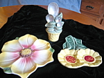 Click here to enlarge image and see more about item spoonrest100108: Vintage Pottery Spoonrests  Etc.