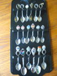Click to view larger image of Vintage Souvineer Spoons w/Rack (Image2)