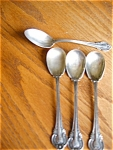 Four Sterling Silver Monogramed Spoons