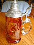 Taube-Glas Etched Glass German Stein