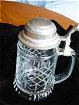 Click here to enlarge image and see more about item stein90427: West German Glass Stein