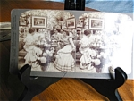 Click here to enlarge image and see more about item stereocard100527: Antique Underwood Stereo Viewer Card - Gossip