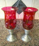 Click to view larger image of Pewter & Sterling Candle Holders (Image2)
