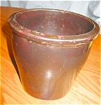 Click here to enlarge image and see more about item stoneware80408: Antique Stoneware Flower Pot