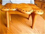 Click here to enlarge image and see more about item stool50503: Teddy Bear Wooden Step Stool