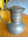 Click here to enlarge image and see more about item syrup101308: Vintage Pewter Syrup Pitcher