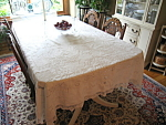 Click here to enlarge image and see more about item tablecloth1000306: Vintage Cotton Lace Tablecloth
