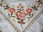 Click to view larger image of Embroidered Linen Tablecloth  (Image2)