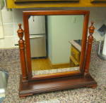 Click here to enlarge image and see more about item tablemirror5014: Mahogany Vintage Table Top Mirror
