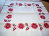 Click to view larger image of Embroidered Red Flowers Tablecloth (Image2)