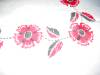 Click to view larger image of Embroidered Red Flowers Tablecloth (Image3)
