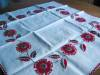 Click to view larger image of Embroidered Red Flowers Tablecloth (Image4)