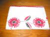Click to view larger image of Embroidered Red Flowers Tablecloth (Image5)