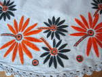 Click to view larger image of Vintage Embroidered Table Round (Image3)