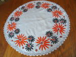 Click to view larger image of Vintage Embroidered Table Round (Image5)