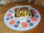 Click to view larger image of Vintage Embroidered Table Round (Image6)