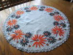 Click to view larger image of Vintage Embroidered Table Round (Image7)