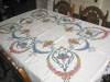 Click to view larger image of Embroidered Linen Tablecloth w/Napkins (Image2)