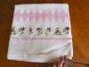 Click to view larger image of Vintage Linen Kitchen Pink Roses Tablecloth (Image2)