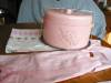 Click to view larger image of Vintage Linen Kitchen Pink Roses Tablecloth (Image3)