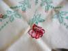 Click to view larger image of Vintage Square Linen Tablecloth  (Image2)