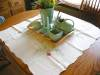 Click to view larger image of Vintage Square Linen Tablecloth  (Image4)