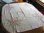 Click to view larger image of Peach Flowers Cotton Tablecloth (Image1)