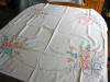 Click to view larger image of Peach Flowers Cotton Tablecloth (Image6)