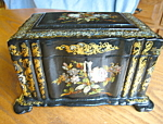 Click here to enlarge image and see more about item teacaddy10825: English Antique Tea Caddy