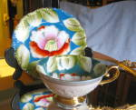 Click here to enlarge image and see more about item teacup070810: Occupied Japan Water Lily Teacup