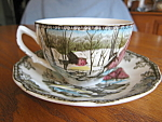Click here to enlarge image and see more about item teacup10731: Johnson Bros. Friendly Village Teacup