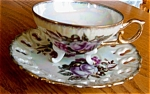 Click here to enlarge image and see more about item teacup30513: Enesco Lustre Footed Teacup
