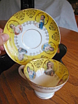 Click here to enlarge image and see more about item teacup50704: Antique German Portrait Teacup