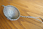 Click here to enlarge image and see more about item teastrainer92006: Vintage German Tea Strainer