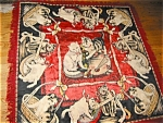 Click here to enlarge image and see more about item texcat10415: Vintage Decorative Tapestry