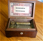 Click here to enlarge image and see more about item thorens80521: Vintage Thoren's Swiss Wood Inlay 2 Tune Music Box