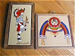 Click here to enlarge image and see more about item tiles50503: Native American Framed Art Tiles