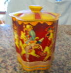 Click here to enlarge image and see more about item tin020611: Vintage Tin English Merry Go Round