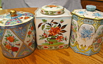Click here to enlarge image and see more about item tin12607: Three Decorative Tins