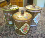 Click to view larger image of Daher Vintage Tin Cannister Trio (Image2)