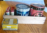 Click here to enlarge image and see more about item tins10627: Vintage Tin Assortment w/Box