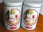 Click here to enlarge image and see more about item tins110409: Vintage Coffee Cannister Tins