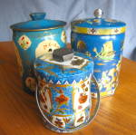 Click here to enlarge image and see more about item tins20610a: Blue Vintage Tin Assortment