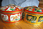 Click here to enlarge image and see more about item tins20717: Two Vintage Gray Dunn Scotland Bisquit Tins