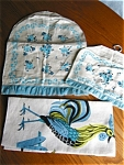 Click to view larger image of Vintage Linen Coffee and Teapot Cover and Towel (Image1)