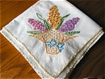 Click to view larger image of Vintage Fruit Basket Cotton Tablecloth (Image1)