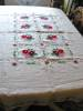 Click to view larger image of Belgian Linen Embroidered Tablecloth (Image8)