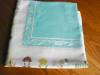 Click to view larger image of Vintage Cotton Aqua Square Tablecloth (Image4)