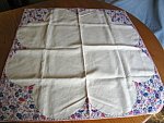 Vintage Emroidered Linen Tablecloth