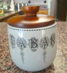 Click here to enlarge image and see more about item tobaccojar0512: Vintage Tobacco Humidor Italy